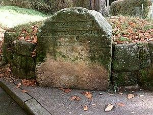 Alexander of Württemberg (1801–1844) - Alexander's memorial stone in Schloss Serach