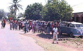 Kabala, Sierra Leone - The All Peoples Congress (APC) political rally in Kabala