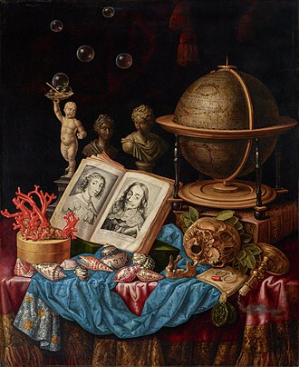 Carstian Luyckx - Allegory of Charles I of England and Henrietta of France in a Vanitas Still Life