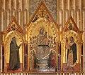 Allegretto nuzi, madonna col bambino, angeli e santi tra i ss. antonio abate e giuliano, 1369, 01.jpg