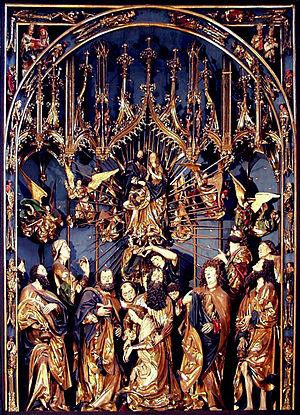 Veit Stoss altarpiece in Kraków - Centre scene