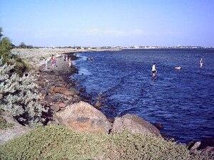 Altona, Victoria - P.A. Burns Reserve and Altona Coastal Park shoreline
