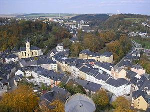 Blick über die Altstadt von Bad Lobenstein