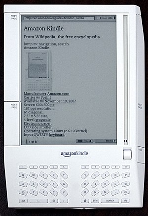 Amazon Kindle on Wikipedia
