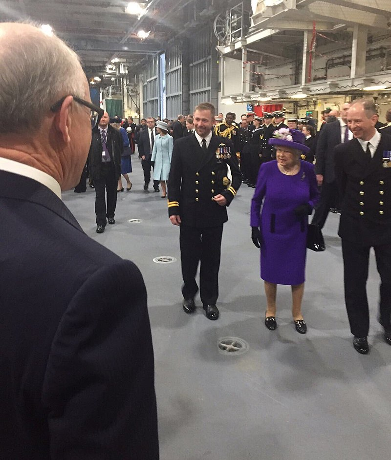 Amb Johnson at Commissioning Ceremony for HMS Elizabeth.jpg