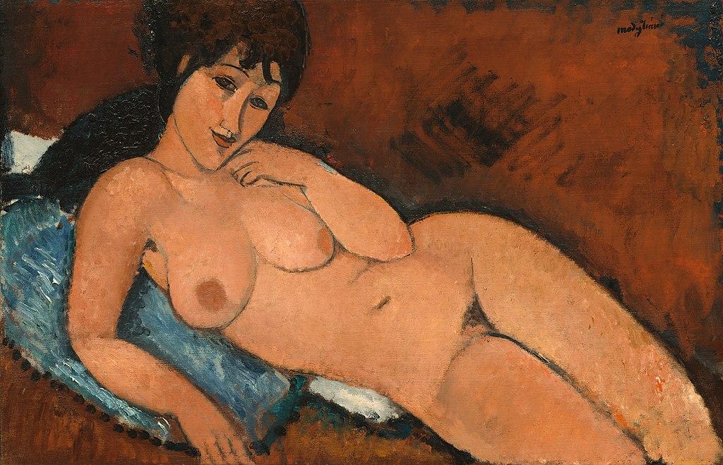 Amedeo Modigliani - Nude on a Blue Cushion