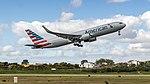 American 767-300ER rocketing out of Lisbon (47555944791).jpg