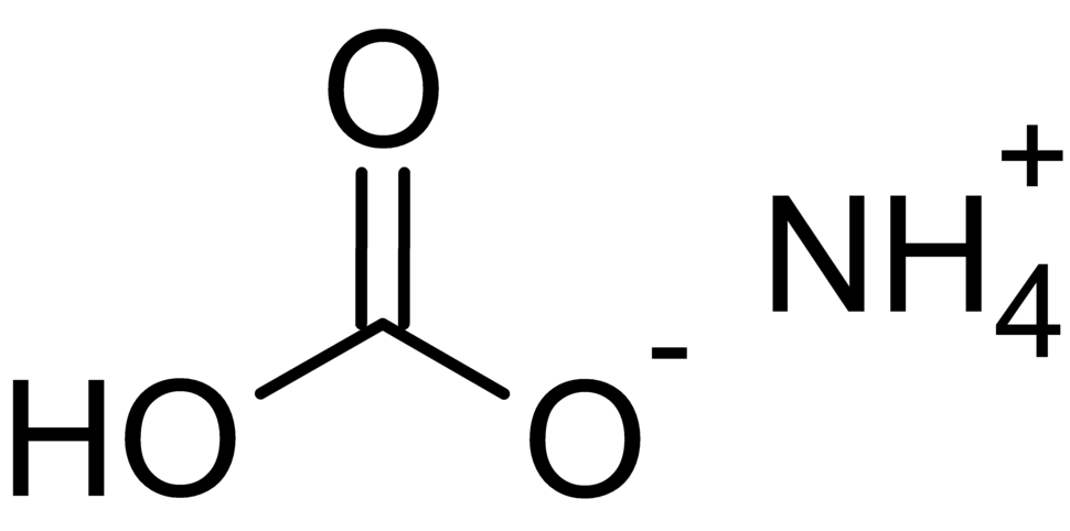 2D model of ammonium bicarbonate