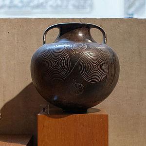 Impasto (pottery) - An Etruscan impasto amphora, Louvre.