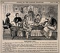 An unwell woman bombarded by her five friends' different rec Wellcome V0011412.jpg