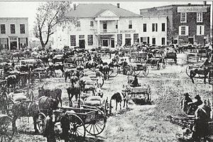 Anderson, South Carolina - Downtown Anderson in 1876