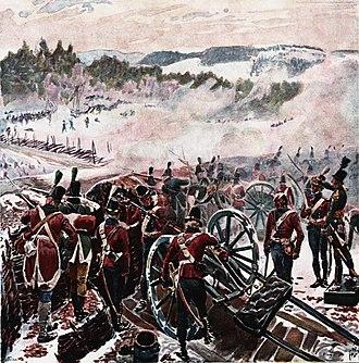 Swedish–Norwegian War (1814) - Image: Andreas Bloch Kampen ved Lier 1808