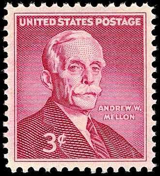 Andrew Mellon - Mellon on US stamp