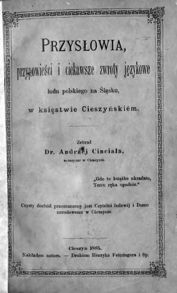 File:Andrzej Cinciała - Przysłowia, przypowieści i ciekawsze zwroty językowe.djvu
