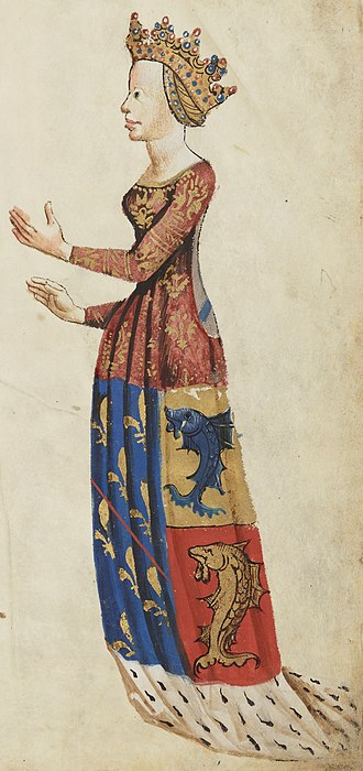 Order of Our Lady of the Thistle - Image: Anne d'Auvergne Bn F Français 22297 fol. 15