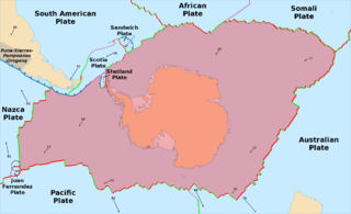 Antarctic Plate A tectonic plate containing the continent of Antarctica and extending outward under the surrounding oceans