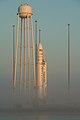 Antares Orb-2 in fog at Wallops pad (201407120005HQ).jpg