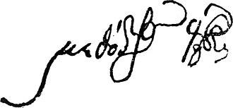 Methodios Anthrakites - Methodios Anthrakites' signature.