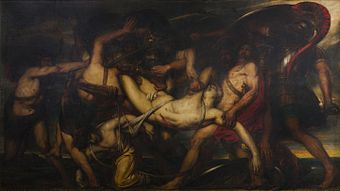 Antoine Wiertz - The Greeks and the Trojans Fighting over the Body of Patroclus, 1836, BAL.jpg