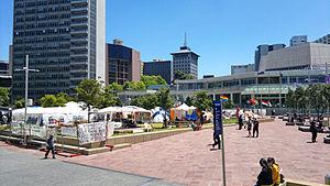 Aotea Square - Aotea Square during the Occupy movement