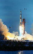 Apollo 9 launching from Kennedy Space Center