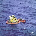 Apollo 11 Crew in Raft before Recovery - GPN-2000-001212.jpg