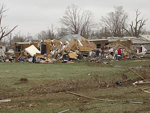 Tornadoes of 2011 - Damage from the EF3 Mapleton tornado