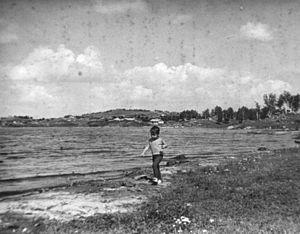 Argazi Reservoir - Image: Argazi lake 1979