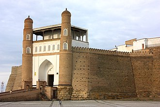 Ark of Bukhara - A view of the Ark Fortress in Bukhara, Uzbekistan