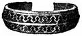 Armband, Armring af silfver från järnåldern, Nordisk familjebok.png