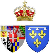 Arms of Françoise Madeleine d'Orléans while Duchess of Savoy