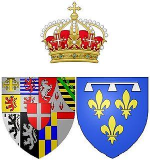 Françoise Madeleine d'Orléans - Arms of Françoise Madeleine d'Orléans while Duchess of Savoy