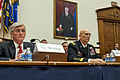 Army Secretary John M. Mchugh and Army Chief of Staff Gen. Ray Odierno listen to opening remarks from the members of the House Armed Services Committee before they testified in Washington, D.C., March 25, 2014 140325-A-KH856-163c.jpg