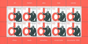 Arnold Bode - Block of stamps issued in 2000, commemorating Bode and documenta III (1964)