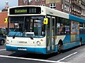 Arriva bus 4523 Volvo B10BLE Alexander ALX300 W299 PPT in Newcastle 9 May 2009.jpg