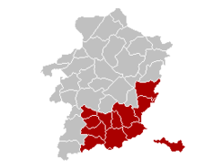 Arrondissement Tongeren Belgium Map.png