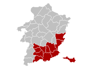 Arrondissement of Tongeren - Image: Arrondissement Tongeren Belgium Map