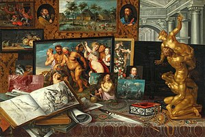 Władysław IV Vasa - Art Collection of Prince Władysław Vasa (Royal Castle in Warsaw), according to artist's signature painted in Warsaw in 1626, depicts treasures purchased by the Prince during his journey across Europe.
