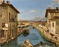 Artgate Fondazione Cariplo - Canella Giuseppe, Veduta del canale Naviglio preso sul ponte di S. Marco in Milano.jpg