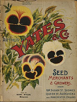 Arthur Yates and Co. Ltd, Auckland -(Pansies). Yates' nursery catalogue. 1899. Front cover). (21662791745)