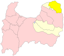 Location of Asahi in Toyama Prefecture