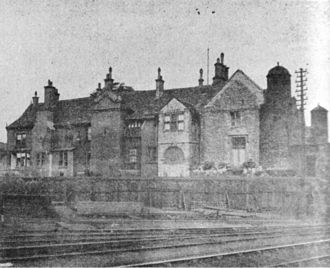 Ashton-under-Lyne - Ashton Old Hall, demolished in 1890