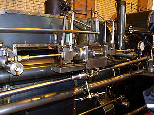 Trip valve gear - Trip gear operating Corliss valves on the high-pressure cylinder of the Ashton Frost engine at Mill Meece Pumping Station