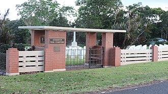 Atherton War Cemetery - Entrance, 2016
