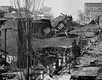 Battle of Atlanta - Ruins of Atlanta Union Depot after burning by Sherman's troops, 1864