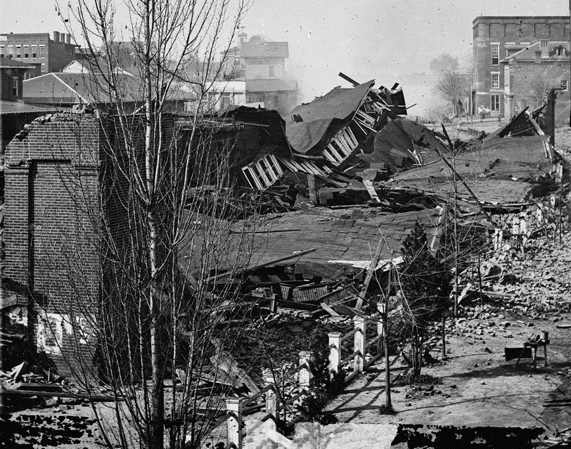 Atlanta first union station in ruins 1864