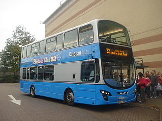Ensignbus bus and coach operator and dealer in Purfleet, England