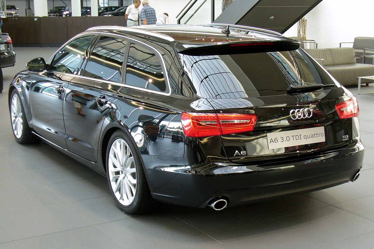 file audi a6 avant 3 0 tdi quattro s tronic phantomschwarz heck 1 jpg wikimedia commons. Black Bedroom Furniture Sets. Home Design Ideas