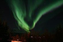 Un'aurora boreale a Salangen, in Norvegia
