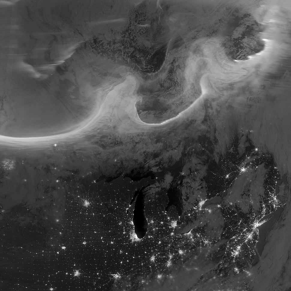 Auroras over North America